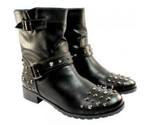 Step out in studded bike boots from SoYouShoes this winter